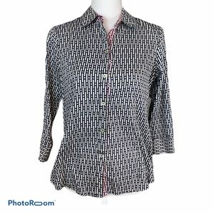 Foxcroft Wrinkle Free Patterned Blouse